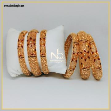 916 Gold Patla Bangles NB-300