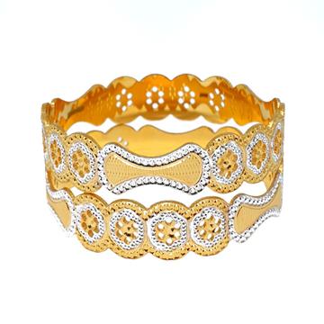 1 Gram Gold Forming Oval Shaped Designer Bangles MGA - BGE0464