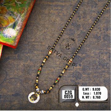 22KT Gold CZ Mangalsutra CZG-0059