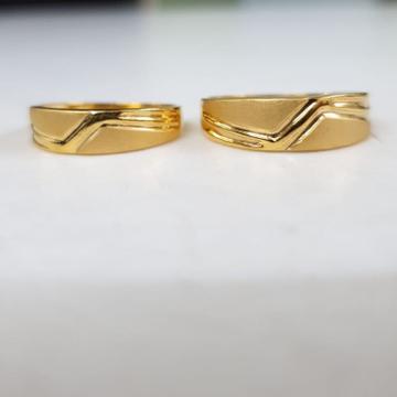 22kt yellow gold lanelot destine couple ring for unisex