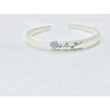 999 Sterling Silver I Love You Forever Rose Writting Dull Finish Bracelet Ms-2809