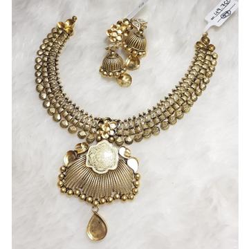 22KT Gold Jadtar Khokha Necklace Set KG-N03 by