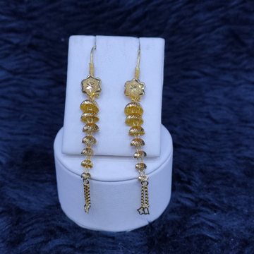 22kt/916 yellow gold stacking glori hanging earrings gtb-27