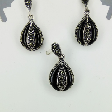 Exclusive marcasite 92.5 silver pendant set mg-p012