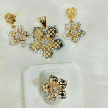White Gold Fancy  Butti Set by
