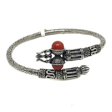 925 Sterling Silver Bahubali Kada Bracelet MGA - BRS0376