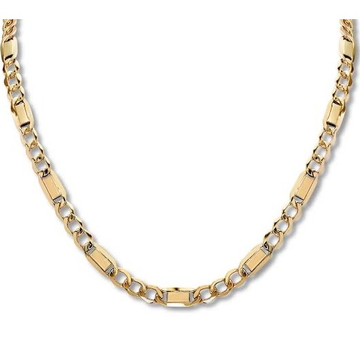 22kt gold fancy machine cut chain for men jkc003