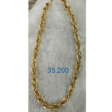 22k Gold Hollo chain by