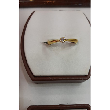 916 Gold Single Stone Ladies ring MJ-R016