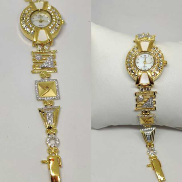 18k Ladies Fancy Gold Indian Watch G-2237