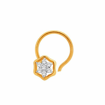 18k gold real diamond nosepin mga - rn006