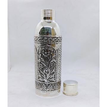 hallmarked Silver Bottle in Fine Antique Temple De...