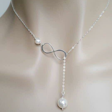 92.5 antic pearl chain With pendant ms-4033