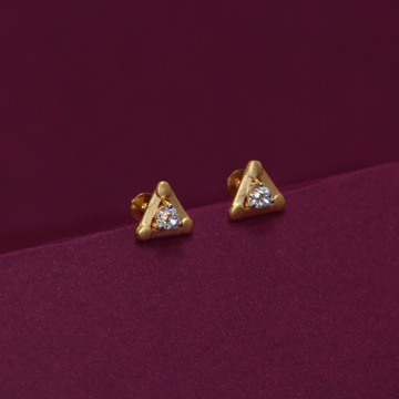 20KT Hallmarked Triangle Earring by Simandhar Jewellers