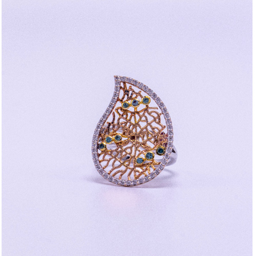 18k rose gold diamond ring agj-lr-168