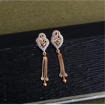 916 gold cz design earring