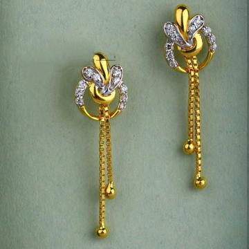 22 k gold fancy earring. nj-e0620