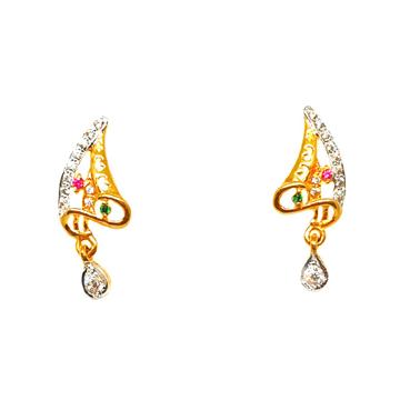 22K Gold Designer Earrings MGA - BTG0182