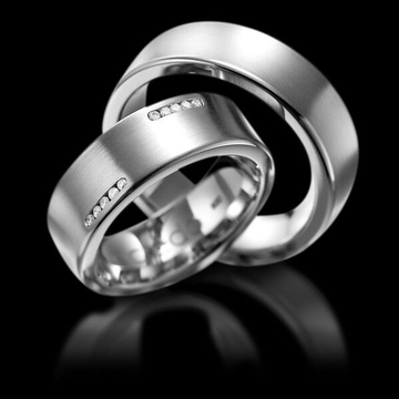 950 platinum amias band couple ring