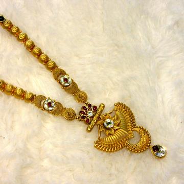 22k gold 916 hallmark jadtar antique long set by