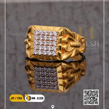 22k/916 MEN CZ GOLD RING