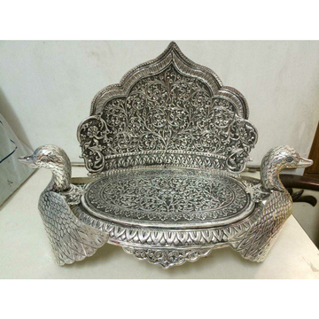 Mandir Jain Derasar Antique Handmade Finish Full Oxodize Cholel Nakshi Peacock(Mor) Sihasan Ms-1311