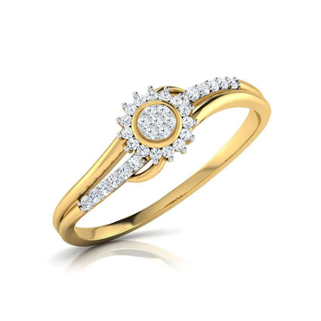 22KT Attractive Gold Diamond Ring