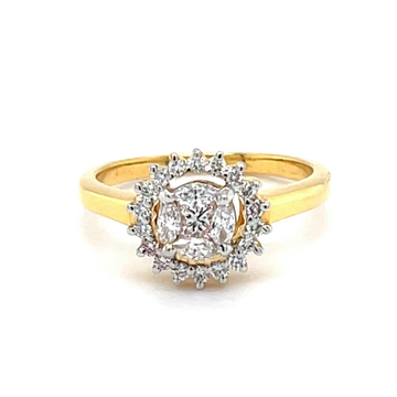 Pressure Setting in a SunFlower Design Diamond Ring 0LR184