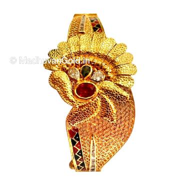 916 gold kalkatti designer kada bangles mga - gp081