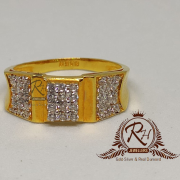 22 carat gold fancy gents ring RH-GR898