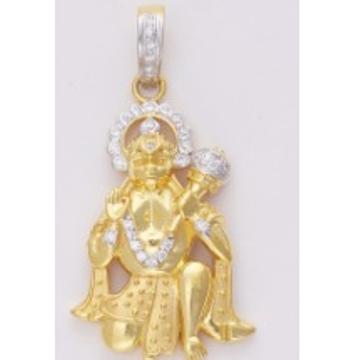 22KT Yellow Gold Fancy Hanuman Shaped Pendant