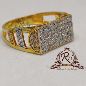 22 carat gold dimond gents rings RH-GR894