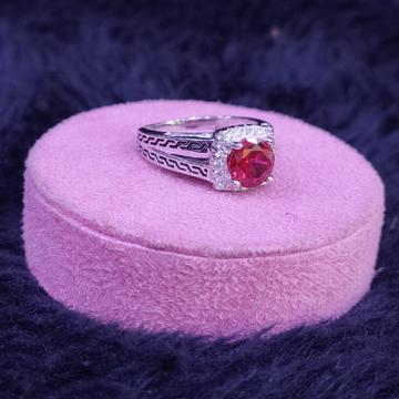 92.5 Sterling Silver Aliala Red Garnet Ring For Women