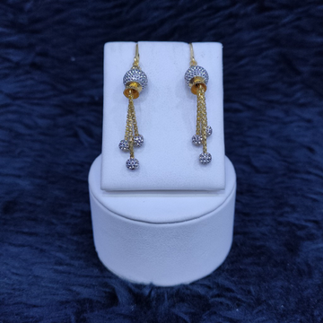 22KT/916 Yellow Gold Fancy Earrings Hanging Ser GLK-8