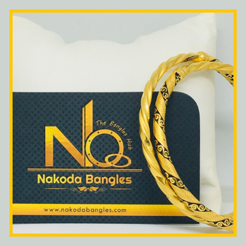 916 Gold Stone Fancy Bangles NB - 514