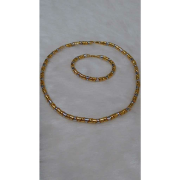 22KT Gold Fancy Chain lucky set by
