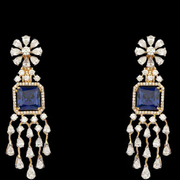 Diamonds and Blue Sapphires EarringsJSJ0100