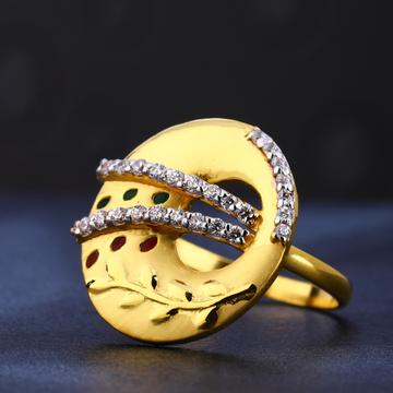 22kt gold hallmark stylish women's  ring lr791