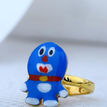 916 Gold 22kt Doramen Kids Cartoon Ring RH-BR88