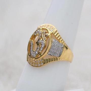 916 Gold  CZ OM Ring RH-GR85