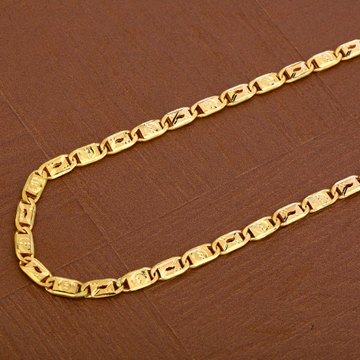 Mens 22K Gold Plain Chain-MNC40