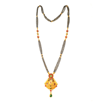 916 Gold antique Oxidised mangalsutra MGA - GM039