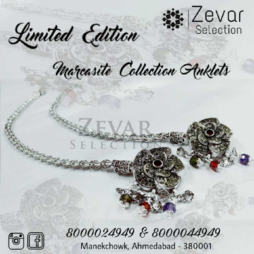 92.5 Silver Hallmark Marcasite Broach Payal