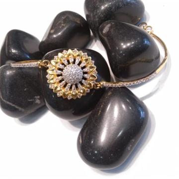 916 CZ Gold Attractive Design Bracelet  by