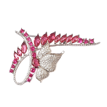 925 Sterling Silver Butterfly Shaped Brooch MGA - BCS0003