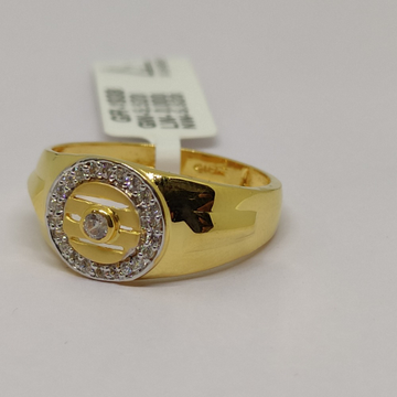 916 Gold Gold Men's Rings SOG-R101 by S. O. Gold Private Limited