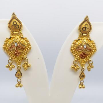 22 kt 916 plain gold earring by Zaverat