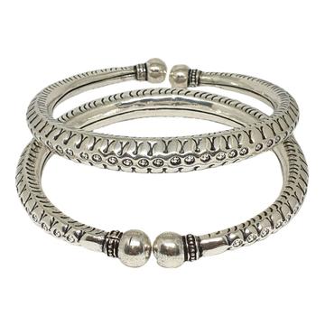 Fancy Silver Kada Payal MGA - PLS3918