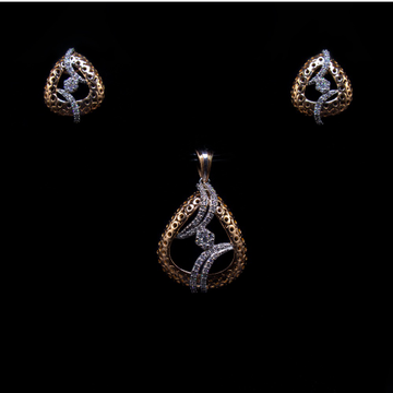 18k  gold diamond delicate pendant set agj-ps-190