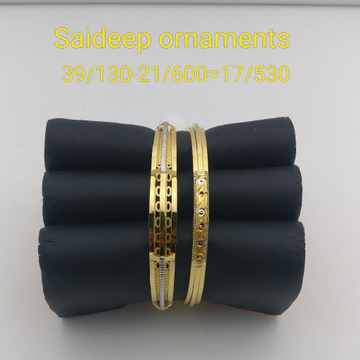 916 22 kt Gold copper bangle kadli light weight design